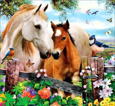 Лошадь и жеребенок, оригинал