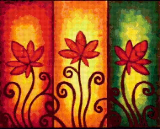Триптих Листья, предпросмотр