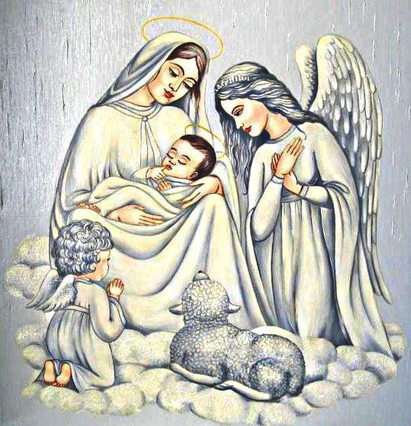 Мария с Исусом, дева,