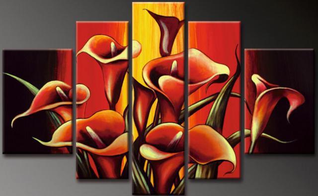 Триптих Красные каллы