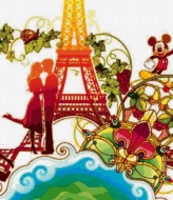 Любовь в Париже, люди, пара,