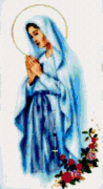 Икона Дева Мария, предпросмотр
