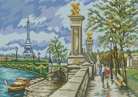Набережная Парижа, пейзаж