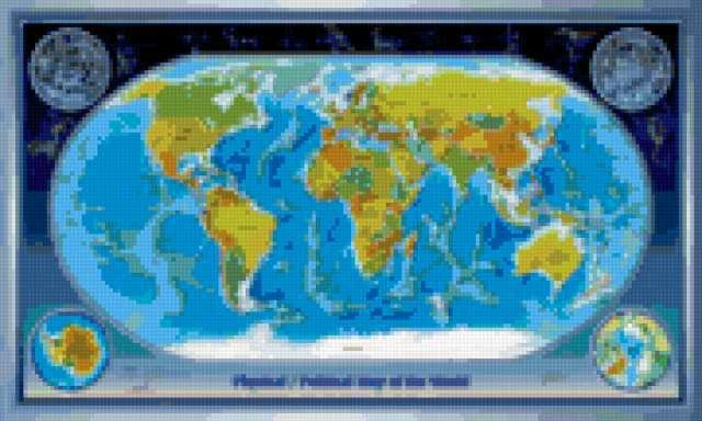 Карта мира, предпросмотр