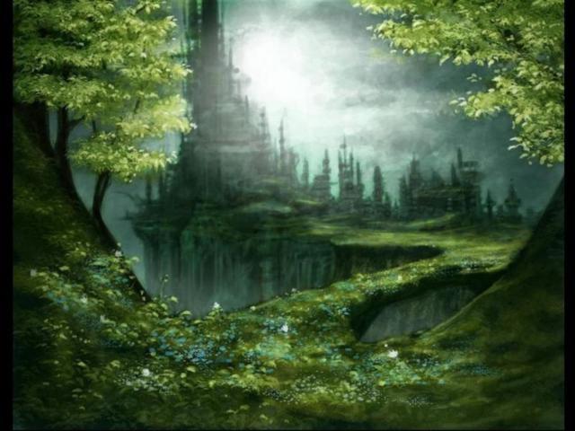 Пейзаж лес замок, оригинал