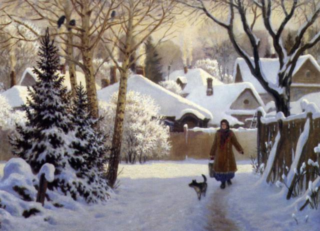 Зима в деревне (Ольшанский),
