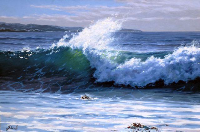 Пенная волна, пейзаж, природа,
