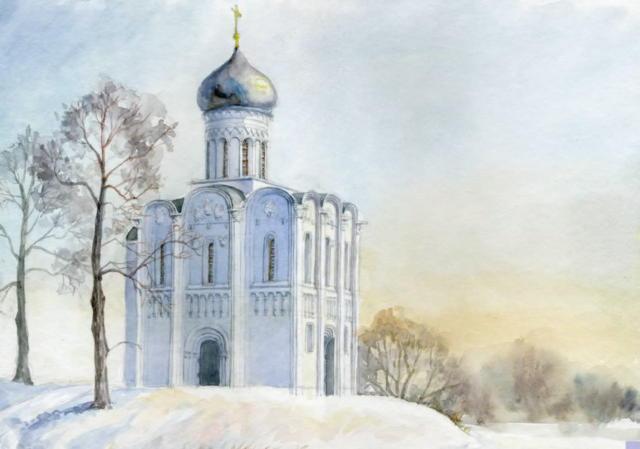 И. Тарасова Храм, серия зима,