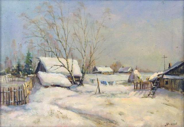 Зима в деревне, зима, деревня,