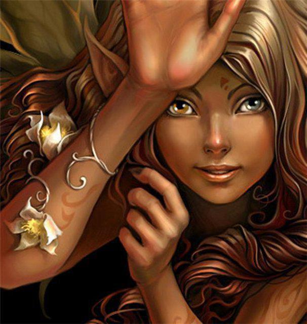 Вышивка девочка эльф