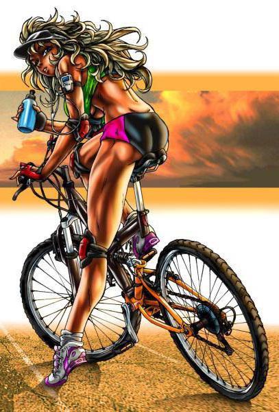 Секси велосипедистки