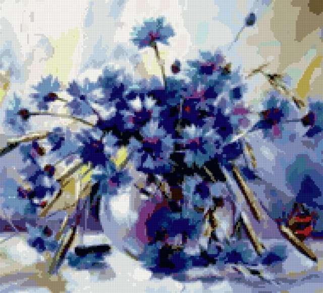 Васильков голубая пыль