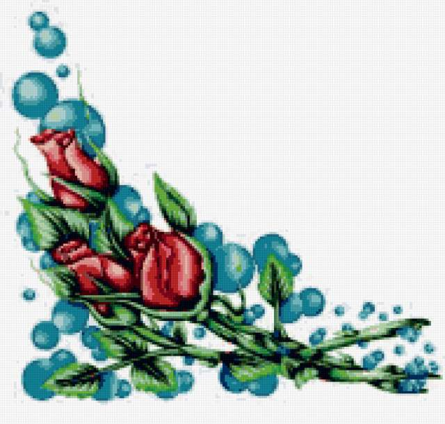 Цветочный орнамент для уголка,