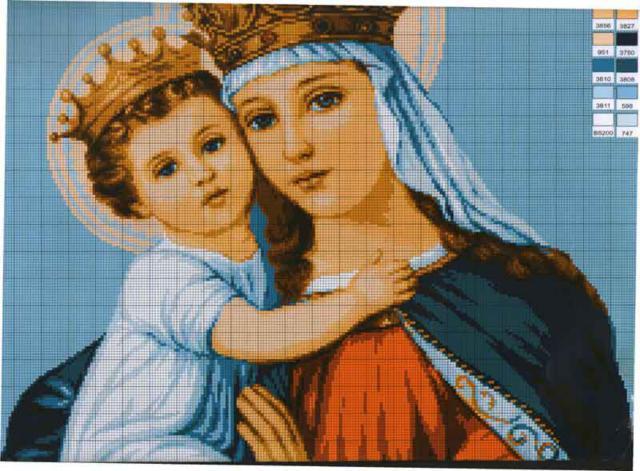 Румынская икона Божьей Матери,