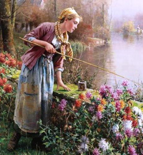 Рыбалка, девушка, крестьянка
