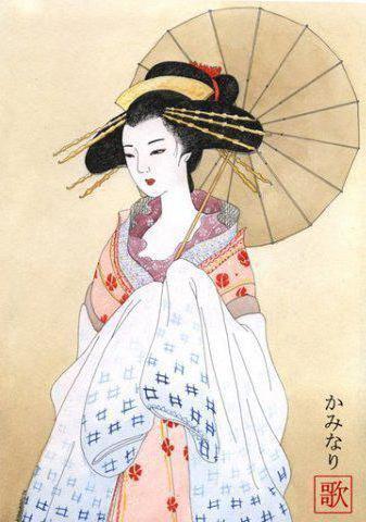 Китаянка с зонтиком, оригинал
