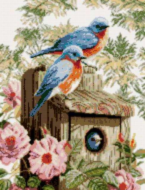 Схема вышивки райские птички