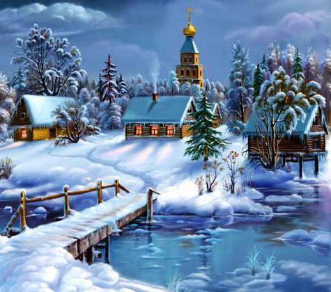 пейзаж, природа, зима,