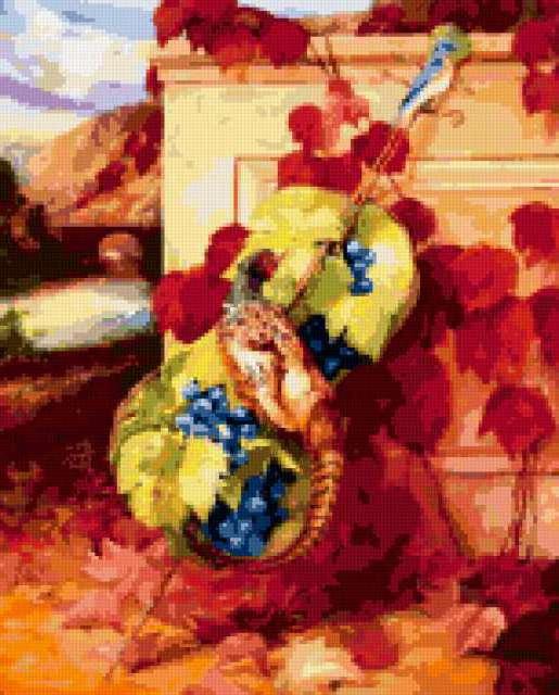 Виолончель в цветах