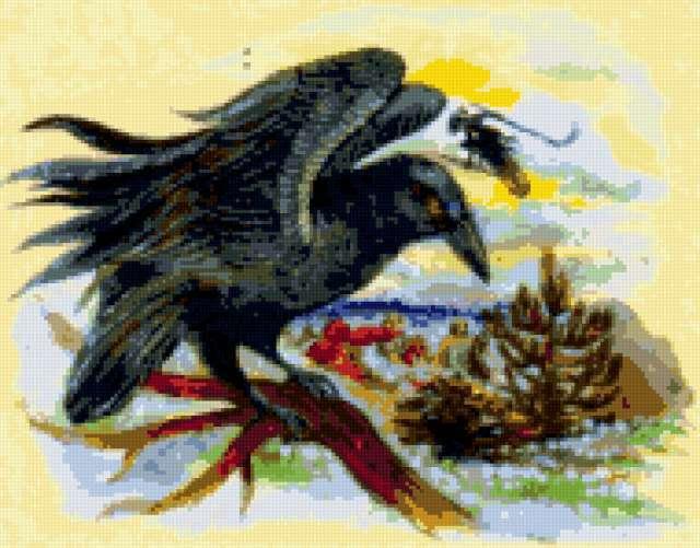Чёрный ворон сказочной страны,