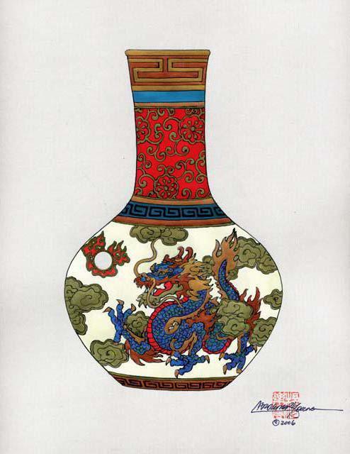 Китайские вазы, оригинал