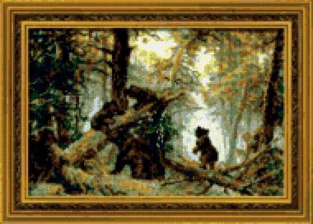 Утро в сосновом лесу. Шишкин
