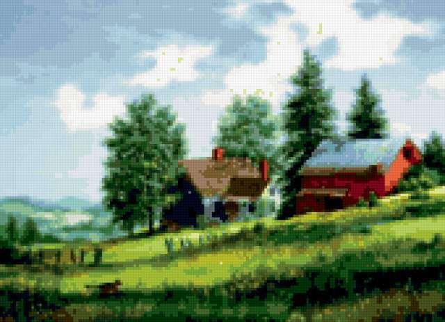 Сельский пейзаж..