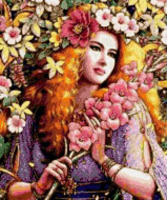 Флора - девушка весна