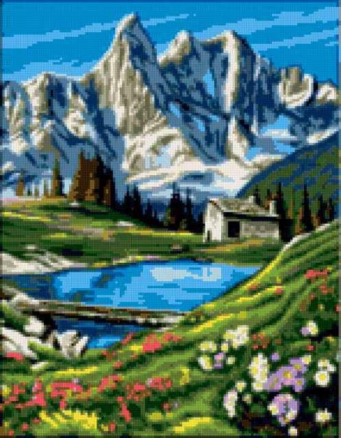 Альпийские луга, лето, альпы,