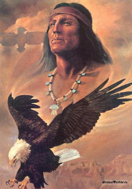Индеец и орел, оригинал