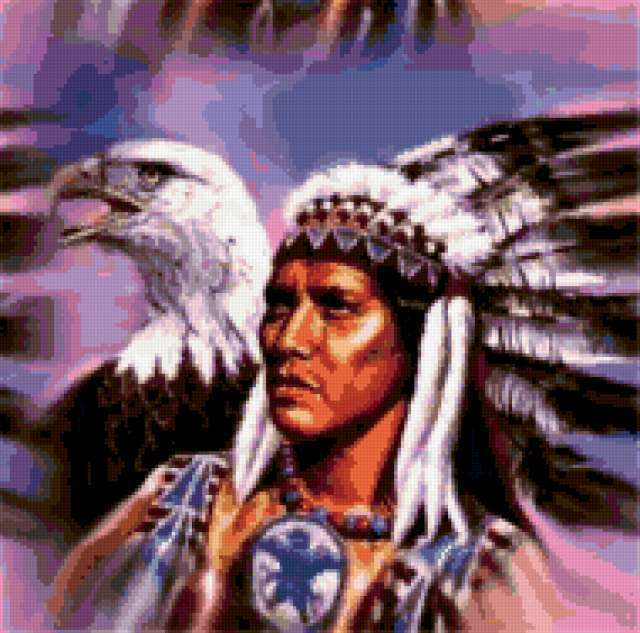 Индеец и орел, предпросмотр