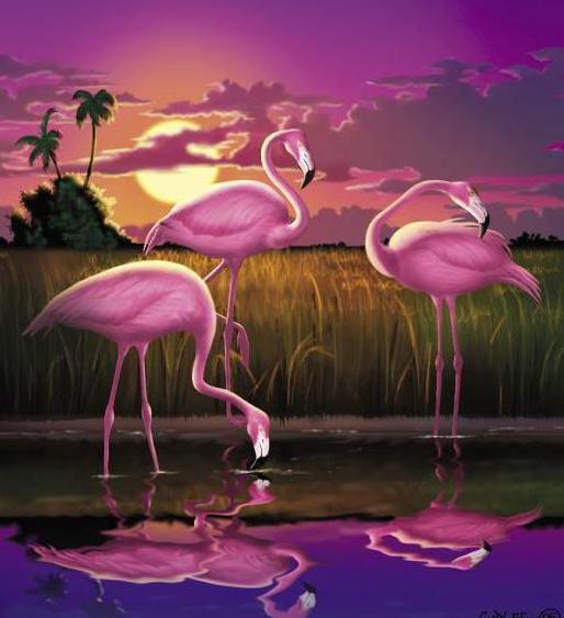 """Серия """" Розовый фламинго """","""