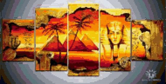 Египет вышивка схема