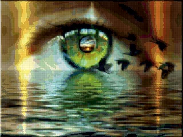 К схеме вышивки «Глаза» нет