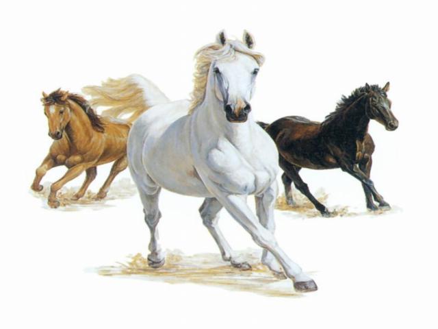Бегущие кони, оригинал