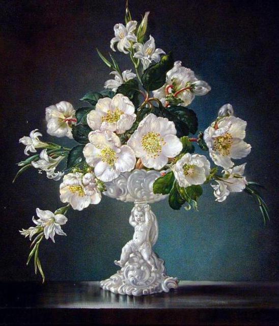 Цветы в вазе, цветы в вазе
