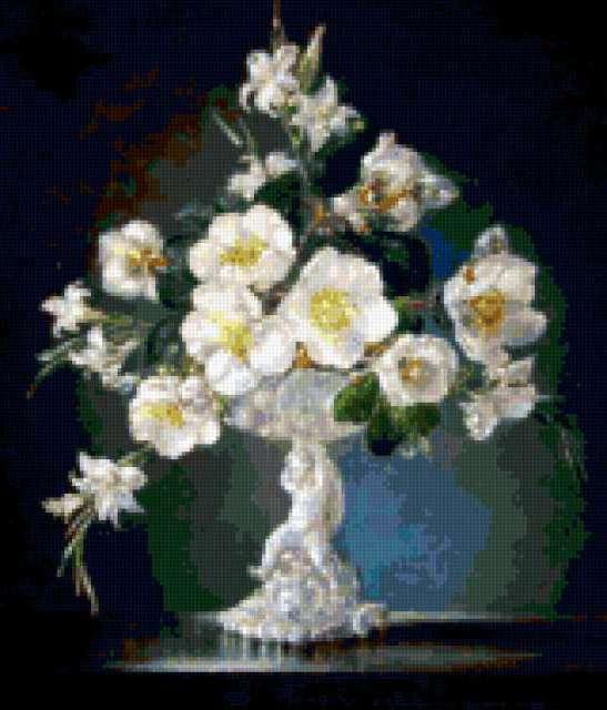 Цветы в вазе, предпросмотр