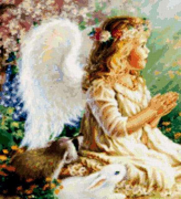 Схема вышивки крестом ангел ребенок
