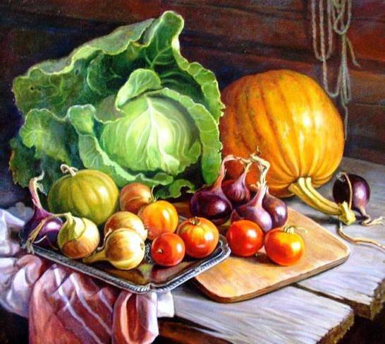 Натюрморт с овощами на кухню,