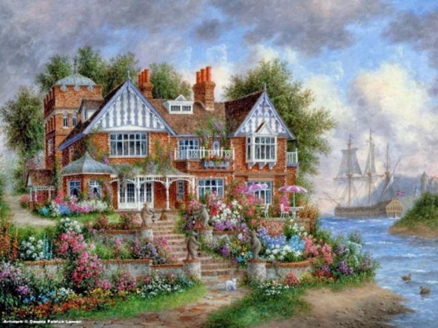 К схеме вышивки «Дом мечты»