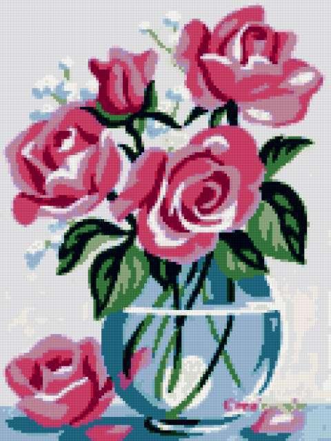 Нежные розы, предпросмотр