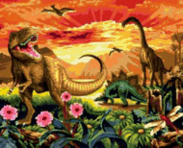 В гостях у динозавров,