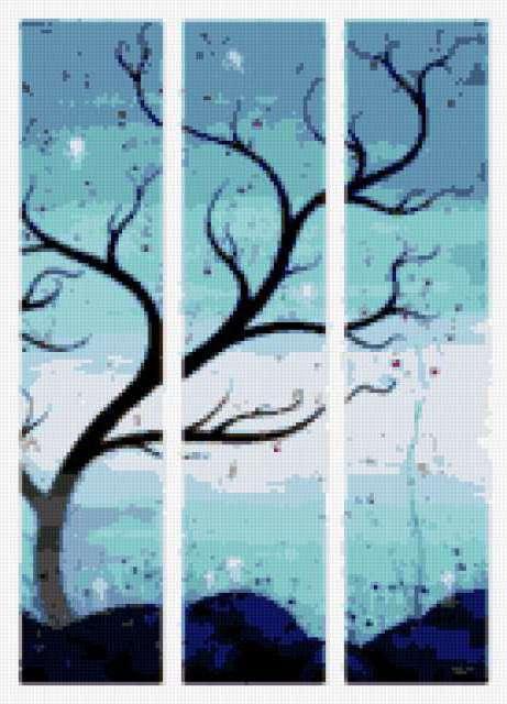 Триптих-дерево, предпросмотр