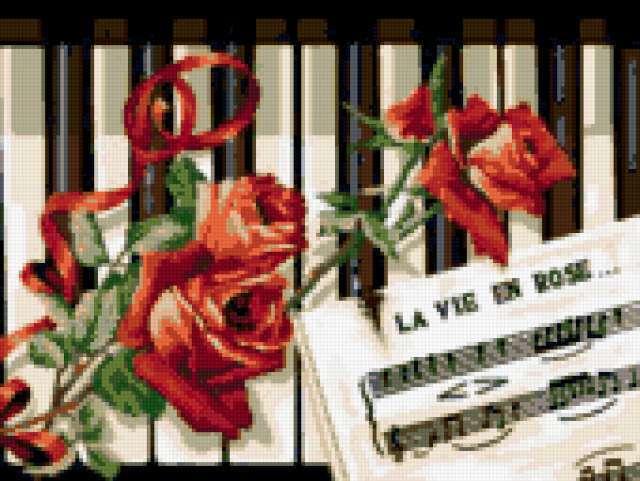 роза, музыка, фортепиано,