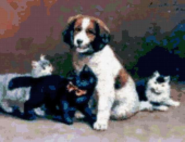 Щенок и котята, предпросмотр