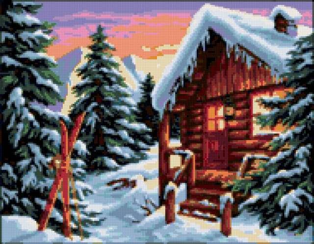Домик в лесу, домик, домики,