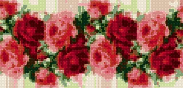 Бордюр из роз, предпросмотр