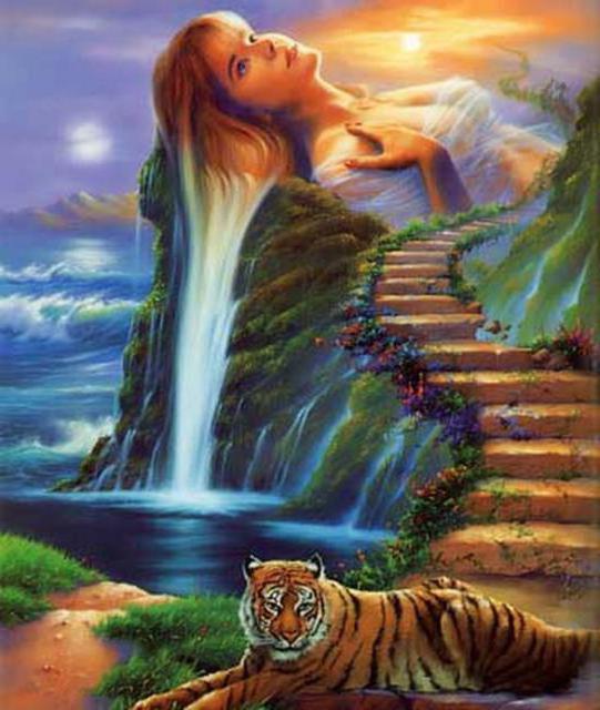 Девушка-водопад, оригинал