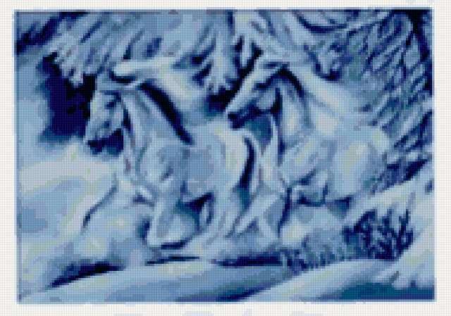 Снежные лошади, животные
