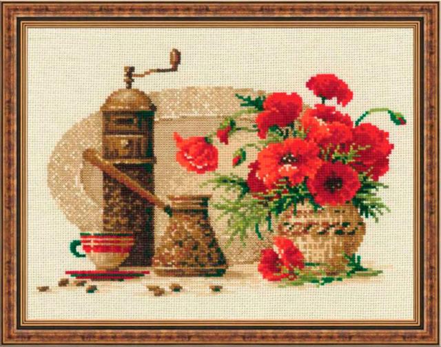 Схема вышивки картин на кухню